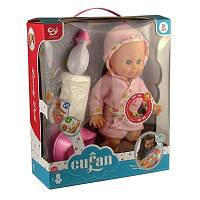 Кукла с соской плачет 7 Toys1099А 00-529 c аксессуарами