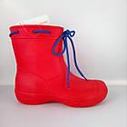 Аналог Crocs, красные сапоги на слякоть и дождь р. 36,37,38, 39, 40, 41. Резиновые сапоги., фото 2