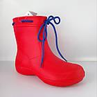 Аналог Crocs, красные сапоги на слякоть и дождь р. 36,37,38, 39, 40, 41. Резиновые сапоги., фото 3