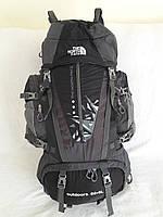 Рюкзак туристический с вентилируемой спиной, каркасный The North Face (3066) 80+5 литров черный