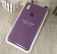 Оригинальный силиконовый чехол для Apple iPhone Xs Max фиолетовый (марсала) 43 color