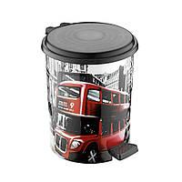 Ведро мусорное с педалью 17 литров Elif (Элиф), Лондон (London).