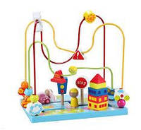 Игрушка для малышей Classic World CW4123 Деревянный образовательный лабиринт автомагистрали и шоссе, фото 1