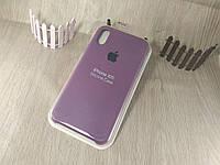 Оригинальный силиконовый чехол для Apple iPhone Xr фиолетовый (марсала) 43 color