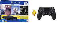 PlayStation 4 Slim 1Tb Rus Black Bundle + 3 Игры Хита + PS Plus 3 мес + Dualshock V2 геймпад, фото 1