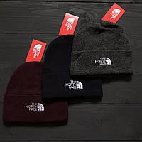 Теплая зимняя и осенняя шапка ТНФ/ The North Face, реплика
