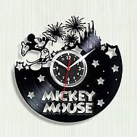 Часы для детей Микки Маус часы Часы виниловые Часы в детскую комнату Mickey Mouse Декор детской Дисней часы