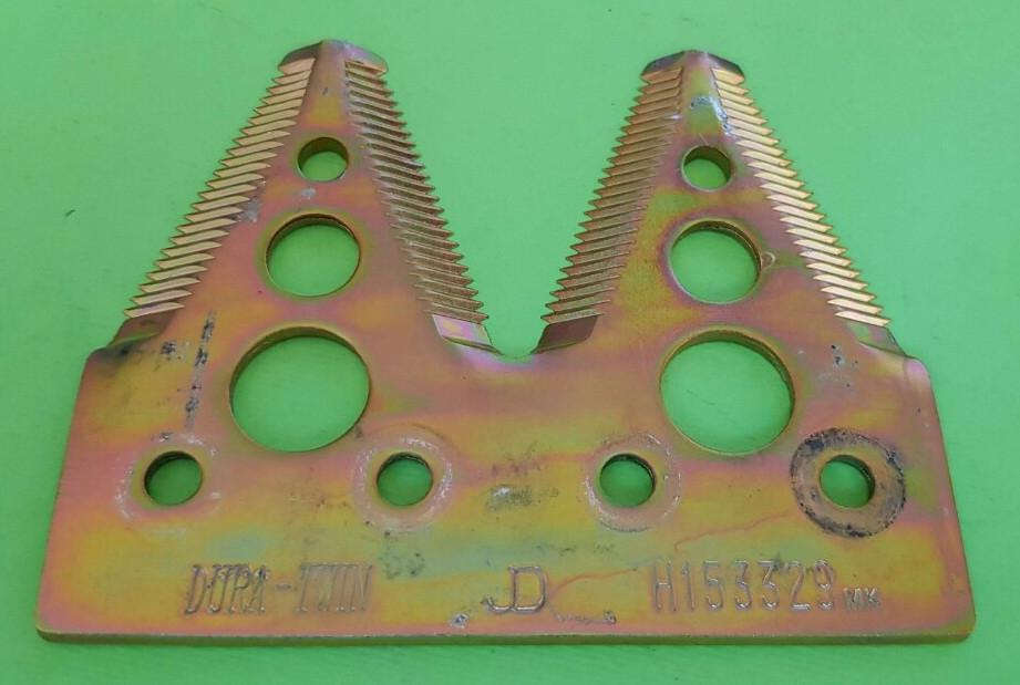 Сегмент ножа жатки подвійний (дрібна насічка) H153329 JOHN DEERE