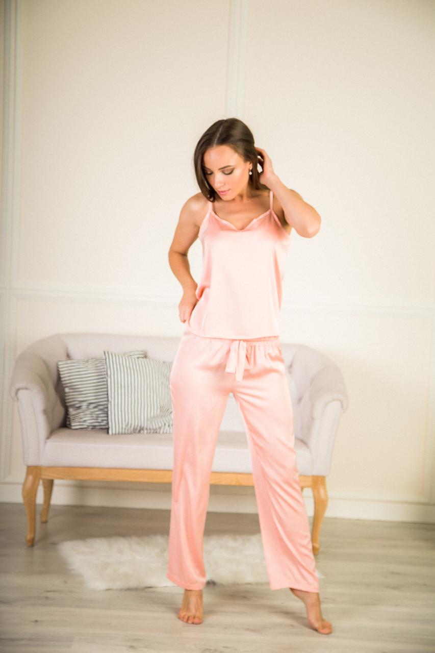 Пижама тройка шелковая