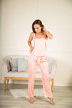 Пижама тройка шелковая 50 размер