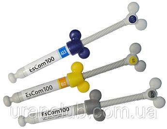 EsCom100 refill светоотверждаемый наногибридный композитный материал шпр./4 гр.