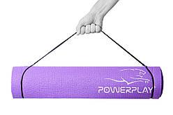 Килимок для фітнесу і йоги PowerPlay 4010 (173*61*0.4 см) Фіолетовий