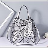 Женская сумка большая в корейском стиле с геометрическим рисунком, фото 4