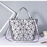 Женская сумка большая в корейском стиле с геометрическим рисунком, фото 5