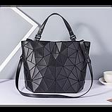 Женская сумка большая в корейском стиле с геометрическим рисунком, фото 6