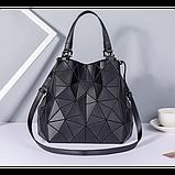 Женская сумка большая в корейском стиле с геометрическим рисунком, фото 7