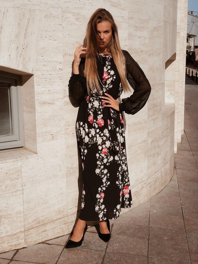 Женское стильное платье  АК2429 (норма / бат)