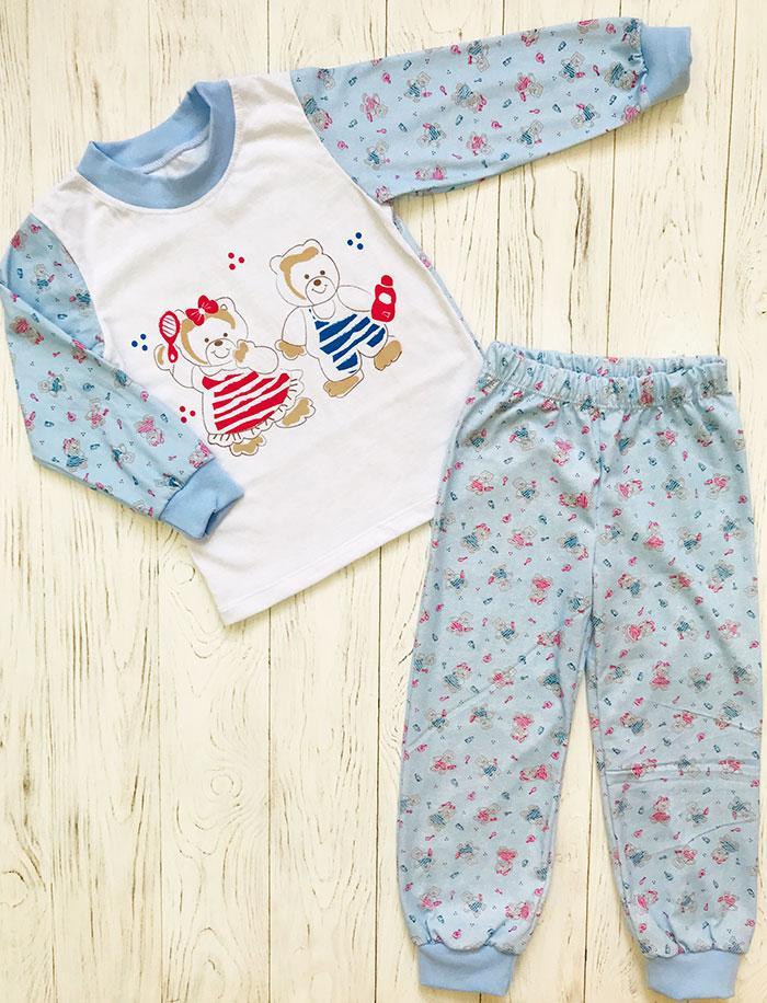 """Пижама детская """"Мишка"""", цвет: Голубой"""