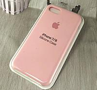 Оригинальный силиконовый чехол для Apple iPhone 7 - светло розовый - 12 color