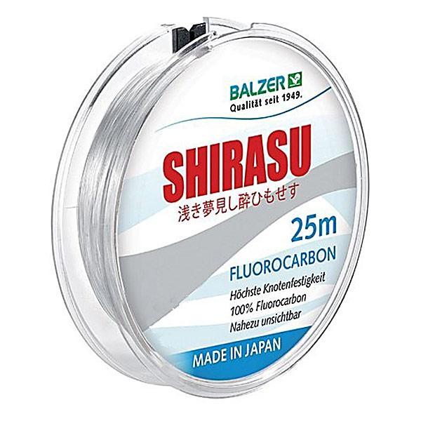 Леска Balzer Shirasu Fluorocarbon 0.25мм. 25м. Made in Japan