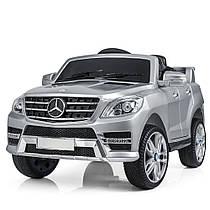 Детский электромобиль M 3568 EBLRS-11 (Mercedes ML 350) серебро,АВТОПОКРАСКА