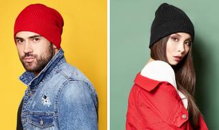 Молодежные вязаные шапки для парней и девушек