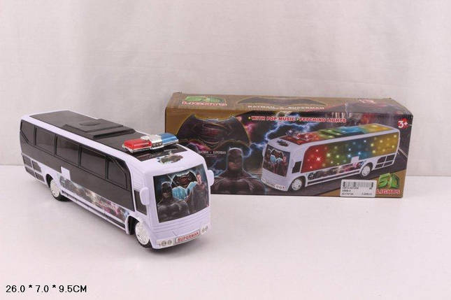 Муз.автобус батар.,свет, муз,в кор. 26*7*9,5см /96-2/, фото 2