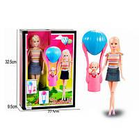 Лялька 68122 шарнірна, дочка, повітряна куля, кор., 23-33-9 см.