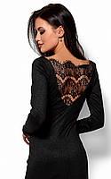 S, M, L / Вечірнє плаття з мереживом Lusy, чорний