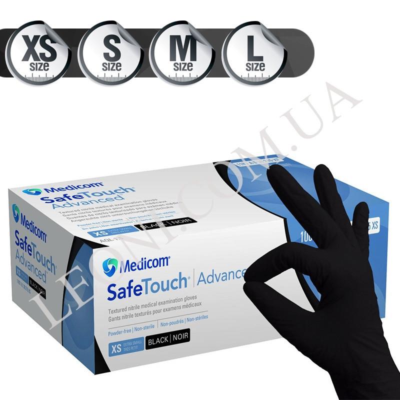 Нитриловые перчатки Medicom Extra Strong черные (100шт./Размер S)