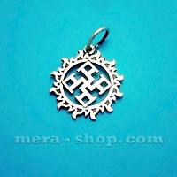 Духовная Сила в Солнце серебряный кулон-оберег