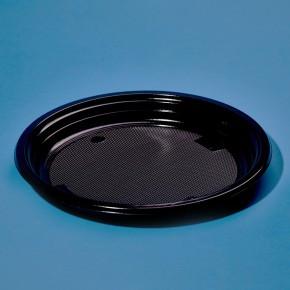 Тарелка одноразовая черная 22 см, 50 шт