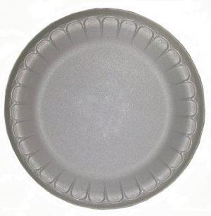 Тарелка вспененая d=22,5см банкетная белая 100шт (12я)