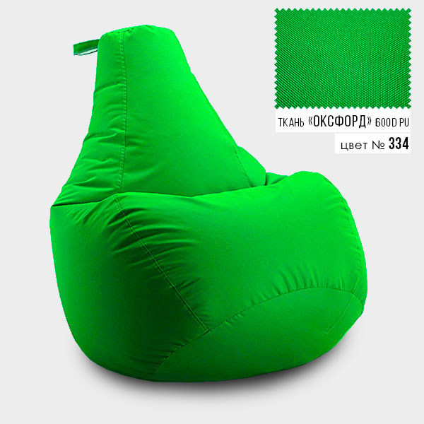 Кресло мешок груша Оксфорд  90*130 см, Цвет Салатовый