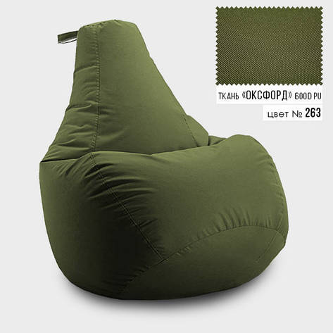 Кресло мешок груша Оксфорд  100*140 см, Цвет Хаки, фото 2