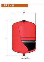 Розширювальний бак Elbi ER 5 для систем опалення, фото 2