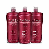Набор кератин для волос Agi Max Kera-x  3х500 г