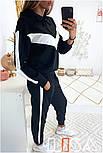 Женский стильный спортивный костюм с ламапасами (в расцветках), фото 3