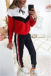 Женский стильный спортивный костюм с ламапасами (в расцветках), фото 2