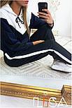 Женский стильный спортивный костюм с ламапасами (в расцветках), фото 7