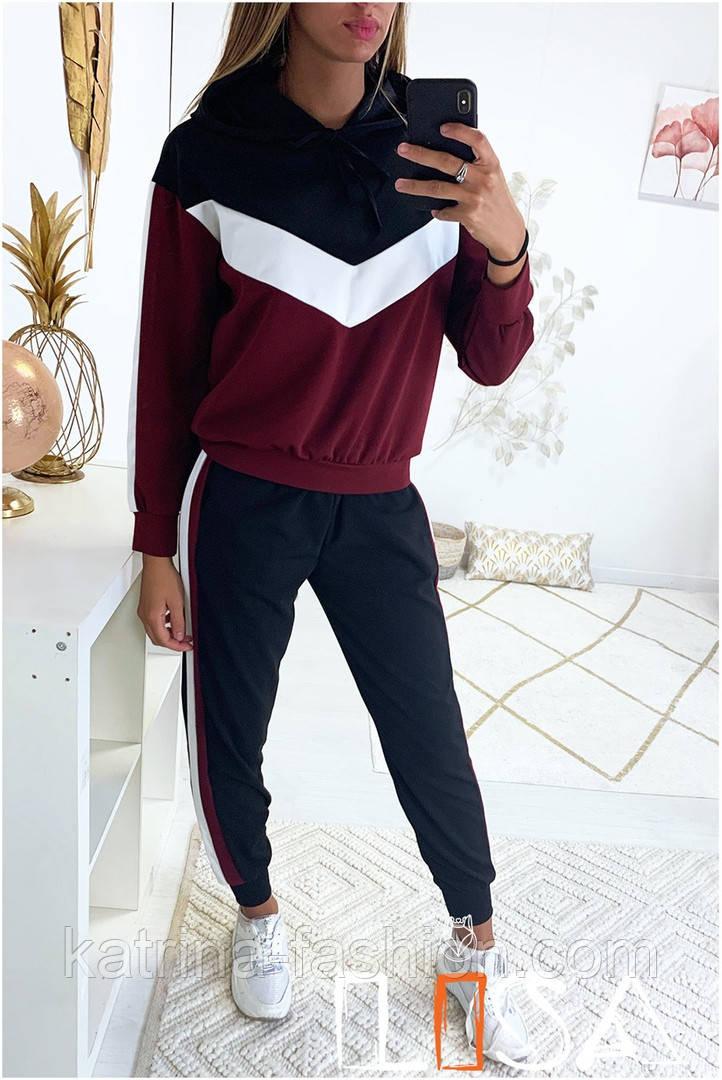 Женский стильный спортивный костюм с ламапасами (в расцветках)