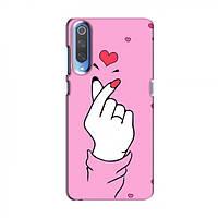 Чохол з принтом для Xiaomi Mi 9 (AlphaPrint - Знак сердечка) (Сяоми (Ксиаоми, Хиаоми) Ми9, Мі 9)