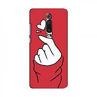 Чехол с принтом для Xiaomi Mi 9T Pro (AlphaPrint - Знак сердечка) (Сяоми (Ксиаоми, Хиаоми) Сяоми Ми 9Т Про)