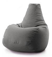 Кресло мешок груша микро-рогожка 85*105 см Серый