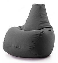 Кресло мешок груша микро-рогожка 85*105 см Темно Серый