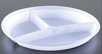 Тарелка одноразовая А d=20.5см 3д белая 100шт Укр.
