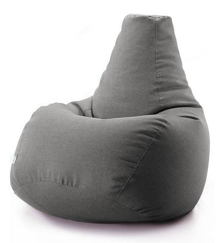 Кресло мешок груша микро-рогожка 90*130 см Серый, фото 2