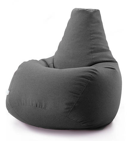Кресло мешок груша микро-рогожка 90*130 см Темно серый, фото 2