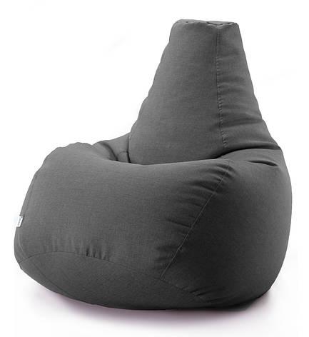 Кресло мешок груша микро-рогожка 100*140 см Темно серый, фото 2