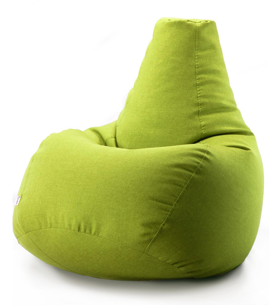 Кресло мешок груша микро-рогожка 100*140 см Оливковый